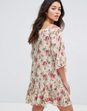 photo Lace Up Shoulder Floral Dress by ASOS Maternity, color Multi - Image 2