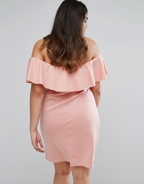 photo Bardot Dress by Be Jealous Plus, color Rose Pink - Image 2