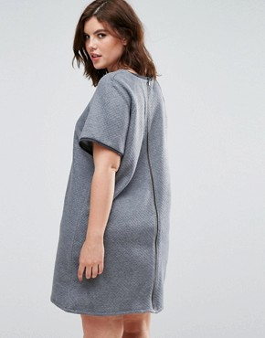 photo Grey Quilted Dress by Elvi, color Grey - Image 2