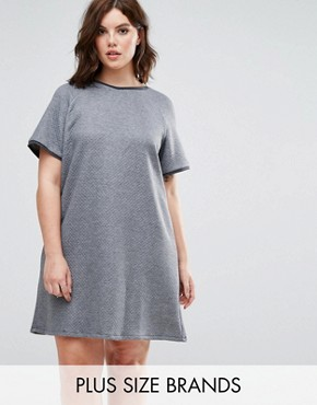 photo Grey Quilted Dress by Elvi, color Grey - Image 1