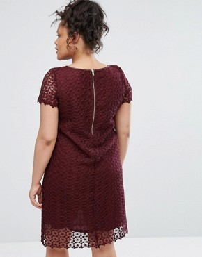 photo Lace Dress by Elvi, color Maroon - Image 2