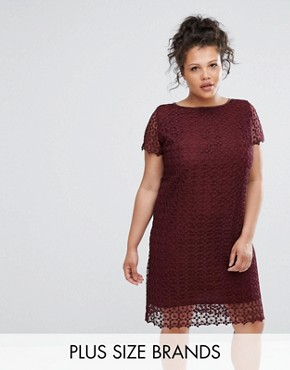 photo Lace Dress by Elvi, color Maroon - Image 1