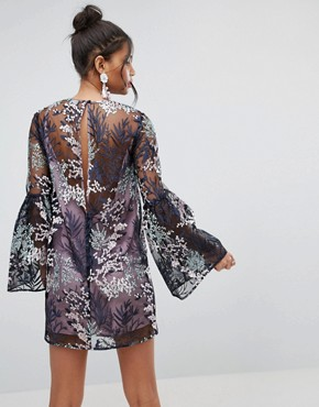 photo Pretty Enchanted Lace Smock Mini Dress by ASOS, color Multi - Image 2