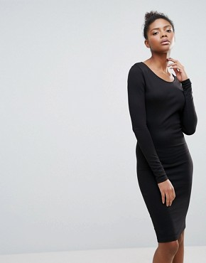 photo Open Back Jumper Dress by Vila, color Black - Image 2