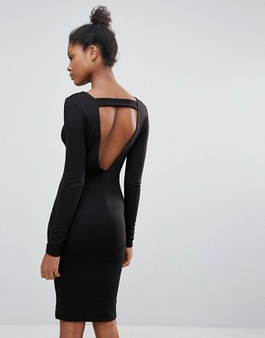 photo Open Back Jumper Dress by Vila, color Black - Image 1