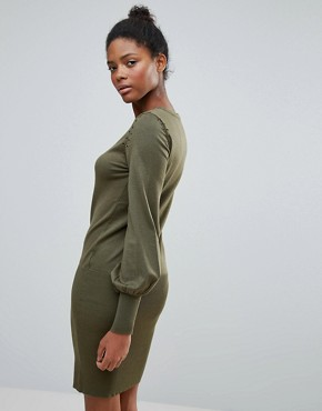 photo Jumper Dress with Flared Sleeve by Vila, color Khaki - Image 2