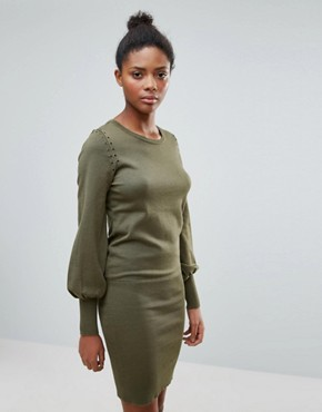 photo Jumper Dress with Flared Sleeve by Vila, color Khaki - Image 1
