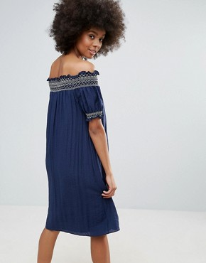 photo Bandeau Summer Dress with Embroidered Detail by Darling, color Twilight - Image 2