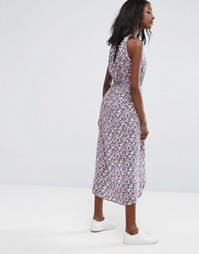 photo Ditsy Halter Midi Dress by Oasis, color Multi - Image 2