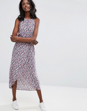 photo Ditsy Halter Midi Dress by Oasis, color Multi - Image 1