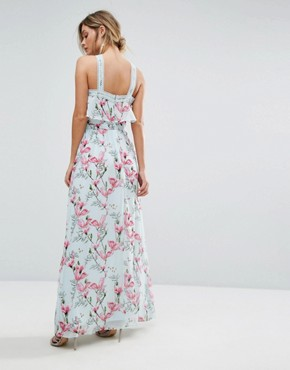photo Floral Halter Maxi Dress by Oasis, color Multi - Image 2