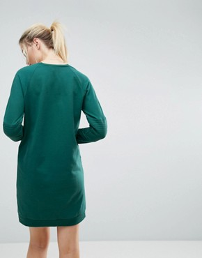 photo Oversized Sweat Dress with Quilting Detail by ASOS, color Green - Image 2