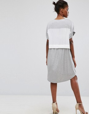 photo 2 in 1 Dress by Minimum, color White Grey - Image 2