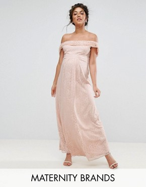 photo Lace Maxi Dress with Cowl Front and Back by Queen Bee, color Pink - Image 1