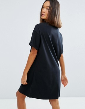 photo T-Shirt Dress with Rolled Sleeves by ASOS ULTIMATE, color Black - Image 2