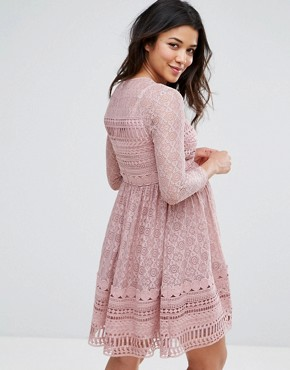 photo Lace Skater Dress by ASOS Maternity PREMIUM, color Lilac - Image 2