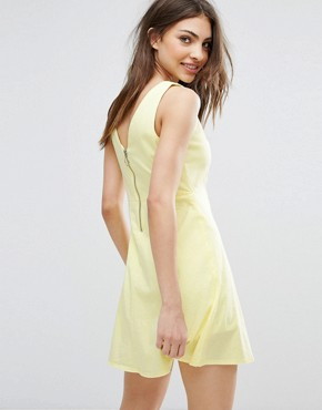 photo Cut Out Detail Dress by Mango, color Yellow - Image 2