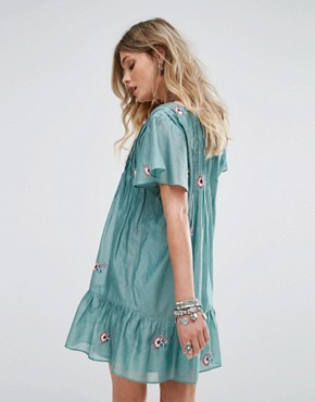 photo Carson Dress by Tularosa, color Turquoise - Image 2