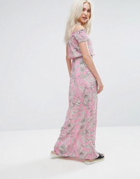 photo Palm Print Maxi Dress by Pimkie, color Pink - Image 2