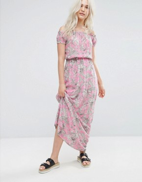 photo Palm Print Maxi Dress by Pimkie, color Pink - Image 1