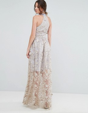 photo Embroidered Halter Neck Maxi Dress by True Decadence Tall, color Multi - Image 2