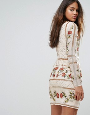 photo Embellished Shift Dress with Floral Embroidery by Frock and Frill Tall, color Rose Dust - Image 2