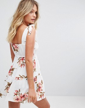 photo Maria Mini Floral Dress by Flynn Skye, color White Gatherings - Image 2