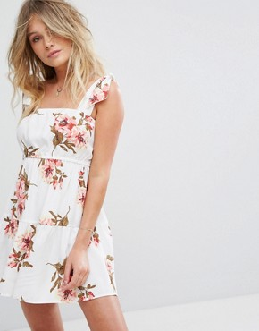 photo Maria Mini Floral Dress by Flynn Skye, color White Gatherings - Image 1
