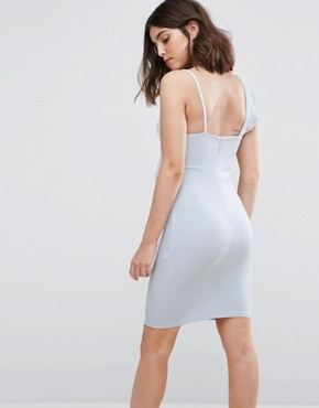 photo Frill Bodycon Dress by New Look Petite, color Pale Blue - Image 2