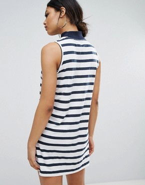 photo High Neck Swing Dress in Stripe by Daisy Street, color Navy/White - Image 2