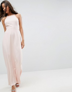 photo Maxi Dress with Strappy Back Detail by ASOS, color Blush - Image 2