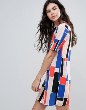 photo Printed Shift Dress by Vero Moda, color Multi - Image 1
