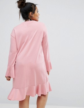 photo Shift Dress with Frill Detail by Pink Clove, color Pink - Image 2