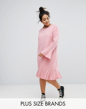 photo Shift Dress with Frill Detail by Pink Clove, color Pink - Image 1