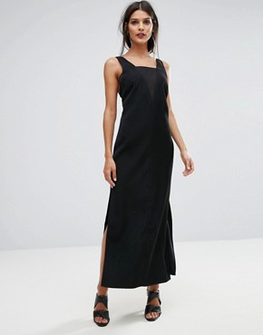 photo Luca Deep V-Back Maxi Dress by Finders Keepers, color Black - Image 1