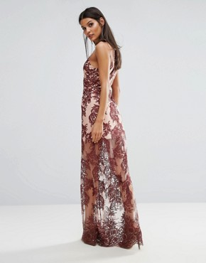 photo Spectral Lace Maxi Dress by Finders Keepers, color Berry - Image 2