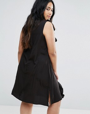 photo Ruffle Panel Dress by AX Paris Plus, color Black - Image 2