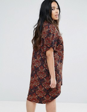 photo Paisley Zip Through Dress by AX Paris Plus, color Paisley Multi - Image 2