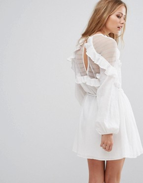 photo Frill Exclusive Mini Dress by Stevie May, color White - Image 2