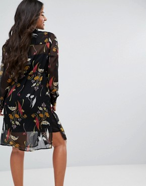 photo Floral Shirt Dress by Mamalicious, color Multi - Image 2