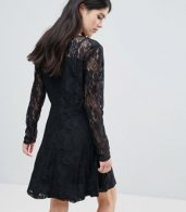 photo Evania Lace Evening Dress by Only, color Navy - Image 2