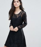 photo Evania Lace Evening Dress by Only, color Navy - Image 1