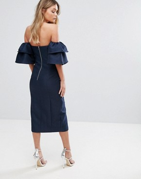 photo Magnolia Dress by Keepsake, color Navy - Image 2