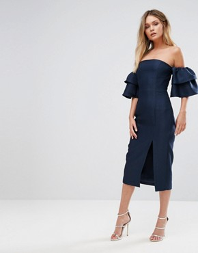 photo Magnolia Dress by Keepsake, color Navy - Image 1