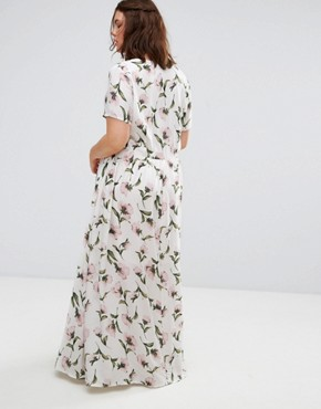photo Floral Maxi Tea Dress by Alice & You, color Multi - Image 2