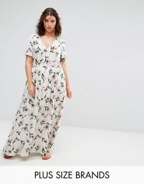 photo Floral Maxi Tea Dress by Alice & You, color Multi - Image 1