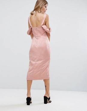 photo Too Late Midi Dress by Keepsake, color Blush - Image 2