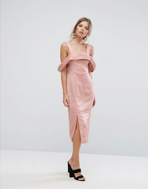 photo Too Late Midi Dress by Keepsake, color Blush - Image 1