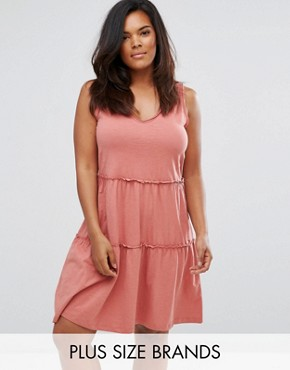photo Sleeveless Jersey Dress by Junarose, color Pink - Image 1