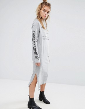 photo Type Graphic Print Dress in Grey Marl by Cheap Monday, color Grey Melange - Image 1